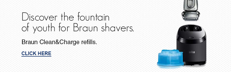 Discover the fountain Braun shavers.