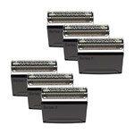 Braun 52B (6 Pack) Replacement Foil and Cutter Pack 367127-5